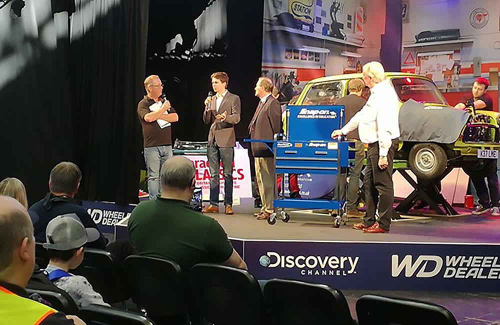Stewart on stage